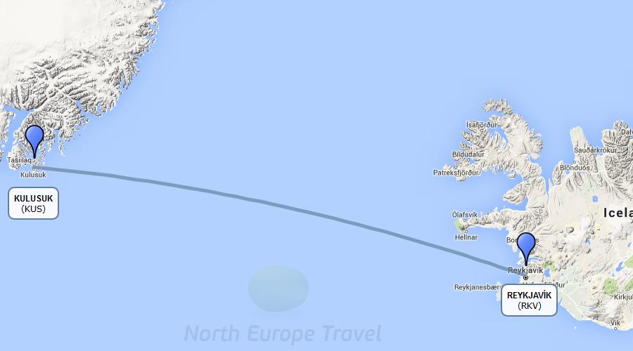 Greenland kulusuk wonders 2 days 1 night package flight route gumiabroncs Gallery