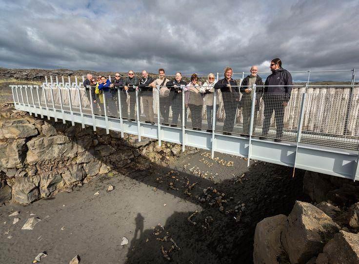 Leif the Lucky bridge over the rift valley Álftagjá.