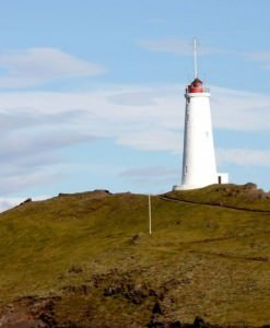 Reykjanesviti lighthouse at Reykjanes peninsula, south west of Iceland.
