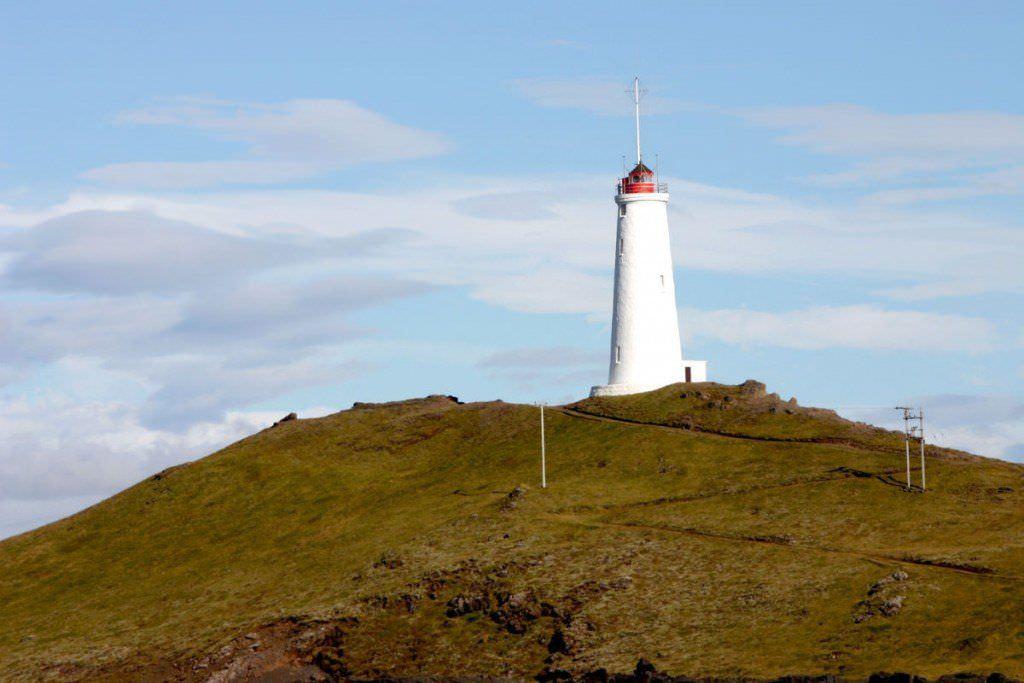 Reykjanesviti lighthouse at Reykjanes peninsula, south west of Iceland.