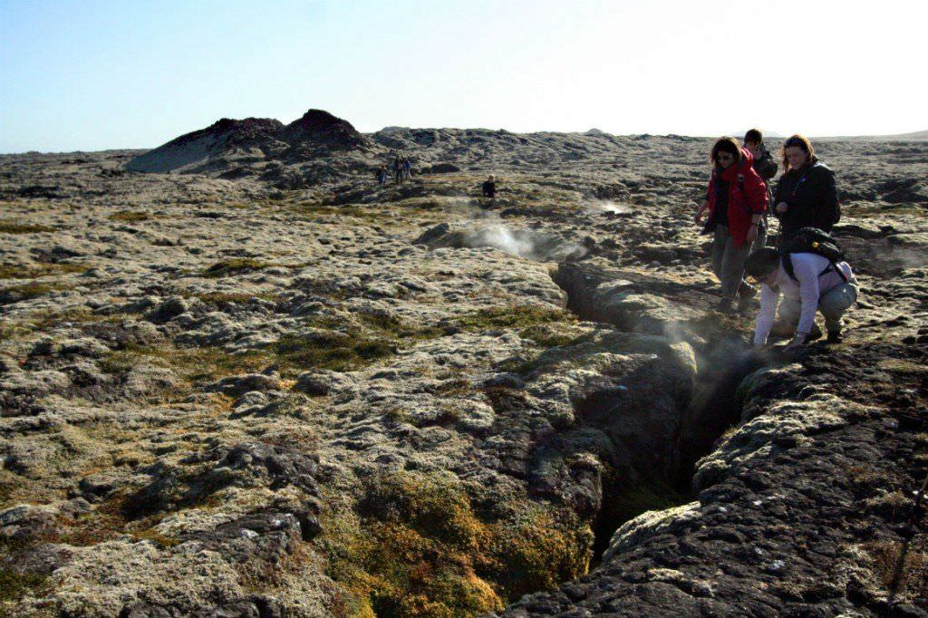 Reykjanes Peninsula is a geological entity that extends eastward beyond the geographical limit to the triple junction south of the volcano Mt. Hengill.
