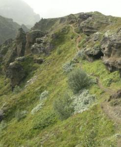 One of many hiking trails in Þórsmörk (Thorsmork) in sout of Iceland.