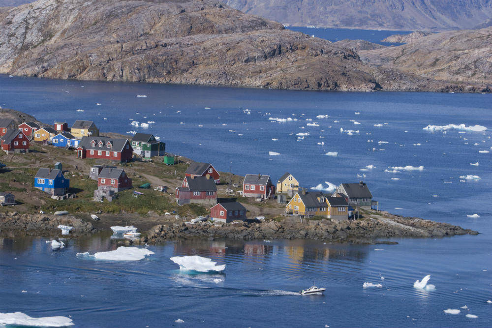 Coast of Kulusuk, Greenland.